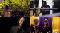 A cannabis plant, Dillian Whyte, Keanu Reeves and Joy Morgan
