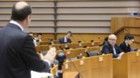 Manfred Weber making speech