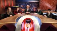Barra Best with School Reporters