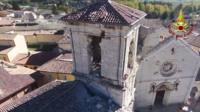 Norcia basilica damage