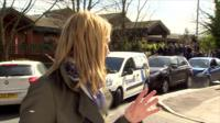 BBC reporter Alison Freeman and car collision