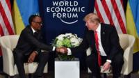 Paul Kagame and Donald Trump