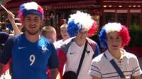 French football fans in Paris