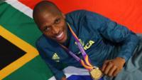 South Africa's long-jump world champion Luvo Manyonga