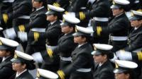 Only 2.5 percent of India's more than one million personnel are women