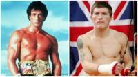 Sylvester Stallone as Rocky/Ricky Hatton the boxer
