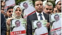 مظاهرة أمام القنصلية السعودية في إسطنبول