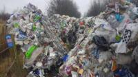 The pile of rubbish on the Staffordshire Moorlands