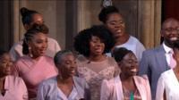 The Gospel choir performing in St George's chapel