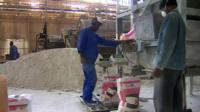 Plaster factory