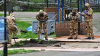 Decontamination crew in Salisbury