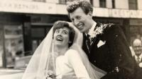 Maureen and Alan Blake on their wedding day