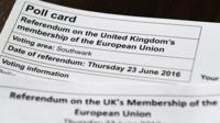 A polling card