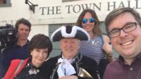 BBC team selfie in Richmond