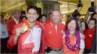 Schooling with his family in Singapore