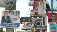 Election posters in Guatemala
