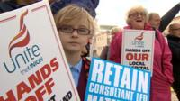 New hospital protest in Cumbria