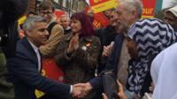 Sadiq Khan with Jeremy Corbyn