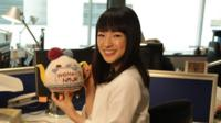 Marie Kondo in the Woman's Hour office