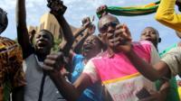 Anti-coup protesters in Ouagadougou, Burkina Faso