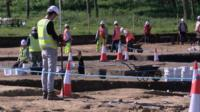 Archaeological dig near Ipswich