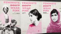 Alice Wroe's giant pink posters celebrate feminism