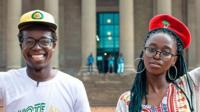 Thapi and Sankara, youth activists from South Africa.