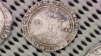 One of the coins found by the metal detectorists