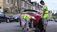 Two people cleaning in Bradford