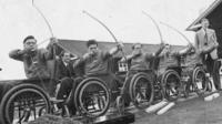 Wheelchair archery in early Paralympic Games