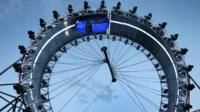 The Jaguar F-PACE is unveiled as it drives round a giant loop the loop track on September 14, 2015 in Frankfurt, Germany. Jaguar is celebrating it's 80th year by revealing the new F-PACE car a to global audience