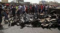 Scene following attack in Baghdad