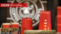 Red coffee cups.