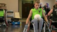 Kascie Higgins is excelling at wheelchair rugby, despite doctors giving him little chance of reaching his first birthday.