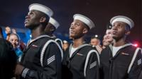 US sailors at concert in Washington, DC
