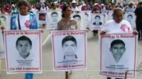 Relatives of some of the disappeared students marching