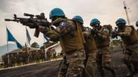 Members of the Guatemalan Special Forces which are part of Monusco