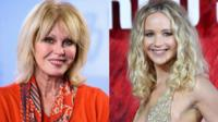 Joanna Lumley and Jennifer Lawrence
