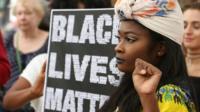 Black Lives Matter protester in the UK