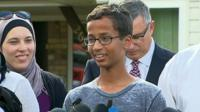 Ahmed Mohamed speaks to reporters