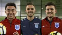 Jesse Lingard, Jack Butland & Harry Maguire