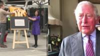 Prince Charles on video link