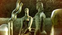 Various sculptures