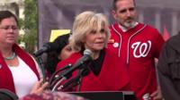 Actress Jane Fonda was arrested alongside fellow actor Ted Danson at a climate protest.