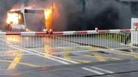 Bus fire in Polegate