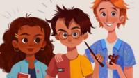 An illustration of the Harry Potter characters.
