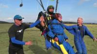 This isn't Tommy's first time as he trained with the Parachute Regiment in World War Two.