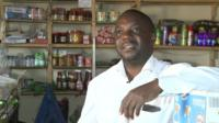 Burundian shop owner Javan Bahema