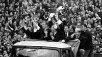 Lisbon Lions with the European Cup