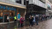 The Primark store in Argyle Street had long queues throughout the morning.